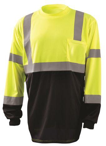 Occunomix LUX-LSETPBK Hi-Viz Long Sleeve T-Shirt, Class 3 Front