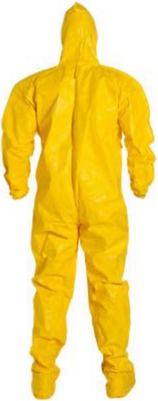 DuPont Tychem QC Suit with Hood - Socks - Elastic Wrists & Ankles - QC122 Back