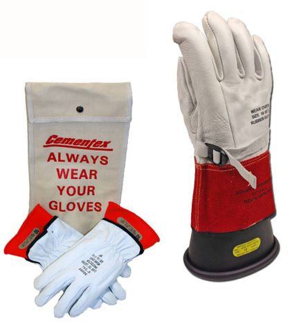 "Cementex 14"" Class 1 Rubber Insulated Glove Kit"