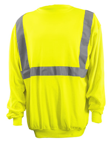 Occunomix Classic Lightweight Crew High Viz Sweatshirt LUX-SWTL Front