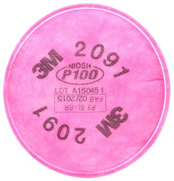 3M 2091 P100 Particulate Filters Front
