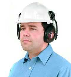 Moldex 6300 M3 Ear Muffs mounted on Hard Hat