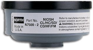 North Safety N75002L Acid Gas Cartridges for Respirators