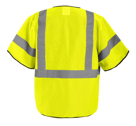 Occunomix ECO-GCZ3 Mesh Standard Vest With Zipper Back Yellow
