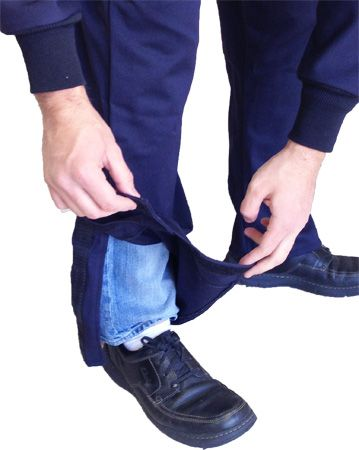 Leg Detail on 12 Calorie Coverall from CPA
