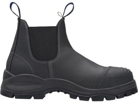 Blundstone 990 XFOOT Rubber Elastic Side Slip-On Steel Toe Boots - Water Resistant Side