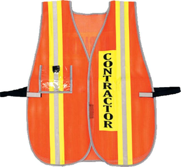 OK-1 CONTRACT Hi Vis Safety Vest - Non-ANSI PVC Coated Mesh