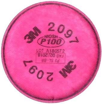 3M 2097 P100 Filters - Nuisance OV Relief Front