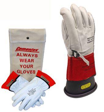 """Cementex 14"""" Class 1 Rubber Insulated Glove Kit"""