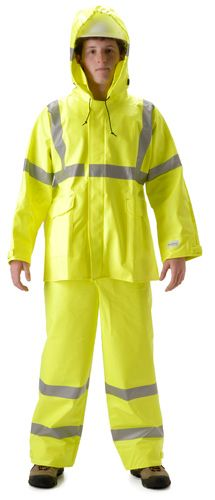 nasco sentinel high visibility flash fire chemical resistant rain suit