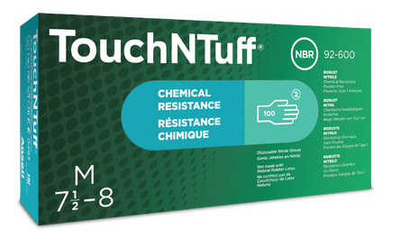 Ansell Touch N Tuff Nitrile Disposable Gloves 92-600 Powder-Free Box