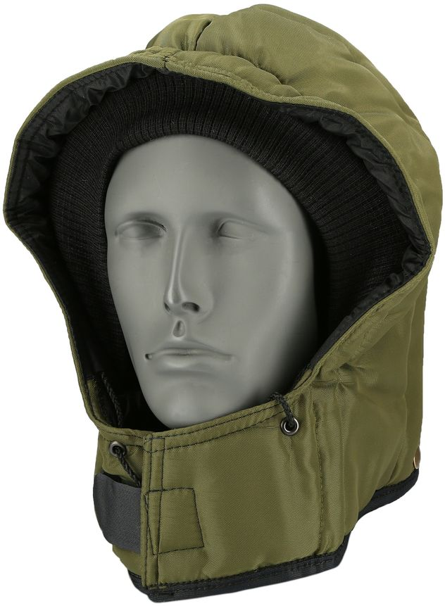 RefrigiWear 0081 Iron-Tuff Cold Weather Snap-On Hood - For Iron-Tuff Work Outerwear Sage