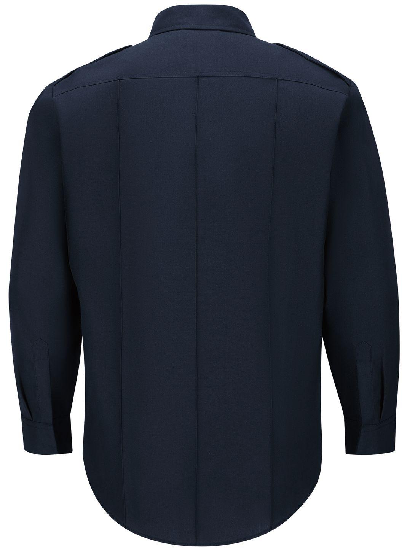 Workrite FR Fire Officer Shirt FSE0 Classic Long Sleeve Midnight Navy Back