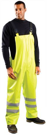 Occunomix LUX-TBIB/FR Arc Flash Rated Hi Vis Waterproof Bib Overalls