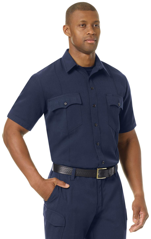 Workrite FR Shirt FSM2, Station No. 73, Uniform Navy Example Right