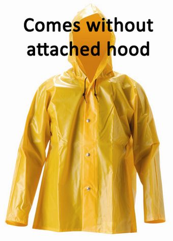 nasco workhard lightweight yellow rain jacket