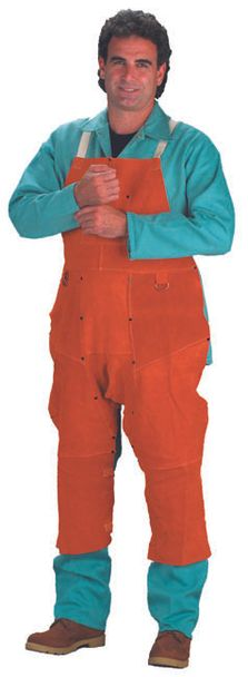Chicago Protective 550-CL-48-SW Rust Split Leather Welding Split Leg Apron