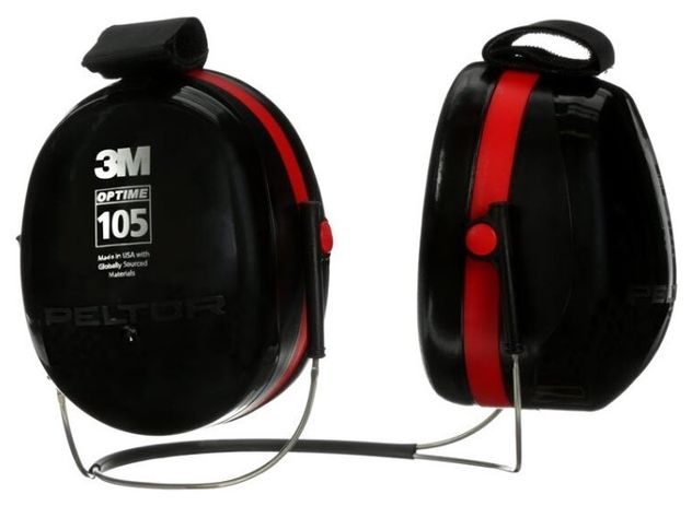 3M Peltor Optime 105 Ear Muffs H10B Front