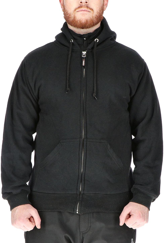 RefrigiWear 0487 Thermal Zipper Work Sweatshirt - With Hood, 2 Layer Black Example