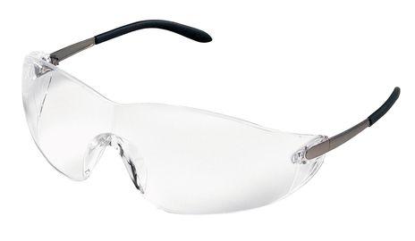 MCR Safety Crews BlackJack Safety Glasses w/ Anti-Fog Clear Lens