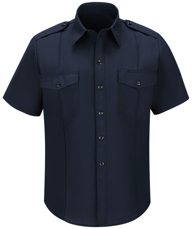Workrite FR Shirt FSC6, Fire Chief, Classic Short Sleeve Midnight Navy Front
