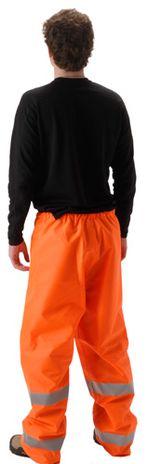 nasco worklite orange hi vis lightweight tear resistant foul weather pant back