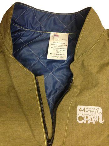 CPA 44 Cal Arc Jacket Closeup on Collar