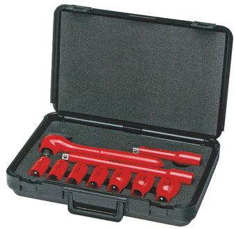 Knipex Tools Metric Electrical Insulated Socket Wrench Tool Kit 98 99 11 S6