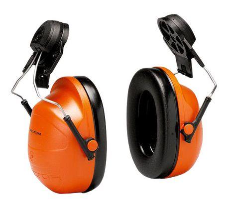 3M Peltor Orange Hi-Viz Earmuffs H31P3E Cap Mount