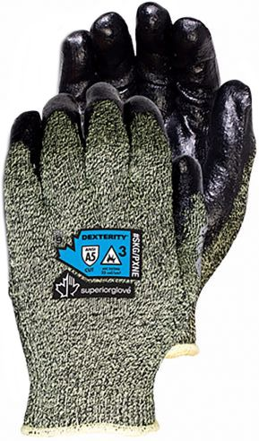 Superior Glove SKG PXNE Dexterity Heat-Resistant Winter Lined Arc Flash Gloves with Neoprene Pams