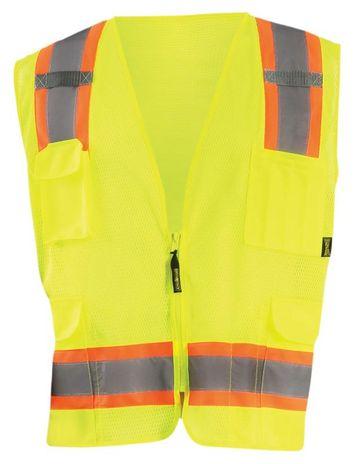 Occunomix ECO-ATRNSM Value Two-Tone Surveyor Mesh Vest Front Yellow