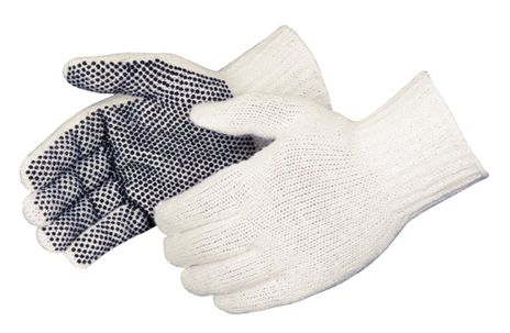 Liberty 4716Q One-Sided Economy Black PVC Dotted Gloves