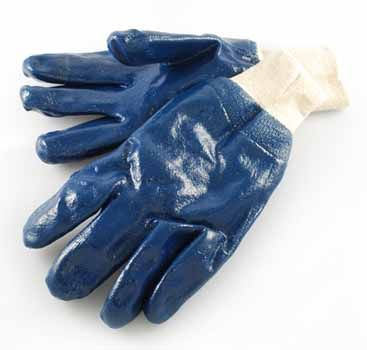 4Works HC2501 Heavy Nitrile Fully Coated Glove with Knit Wrist