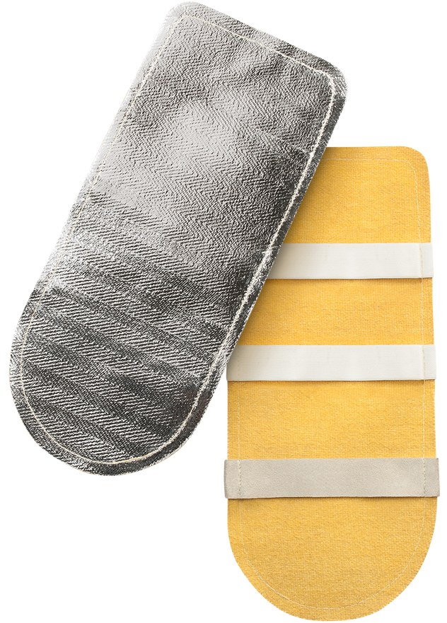 Steiner Double Layer Back Pads 15A76-13 Aluminized Top Goldenglass Bottom
