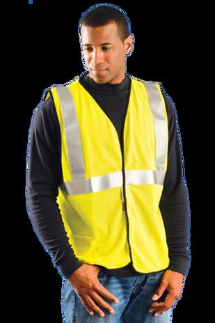 Occunomix LUX-SSGC/FR Hi-Viz Premium Flame Resistant Single Stripe Mesh vest