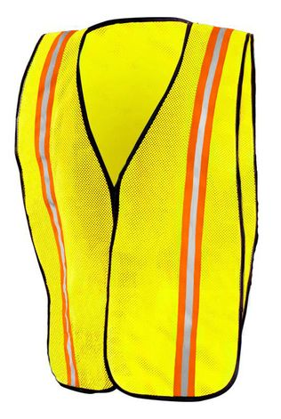 Occunomix LUX-XTTM Hi-Viz Mesh Two-Tone Vest Yellow Front