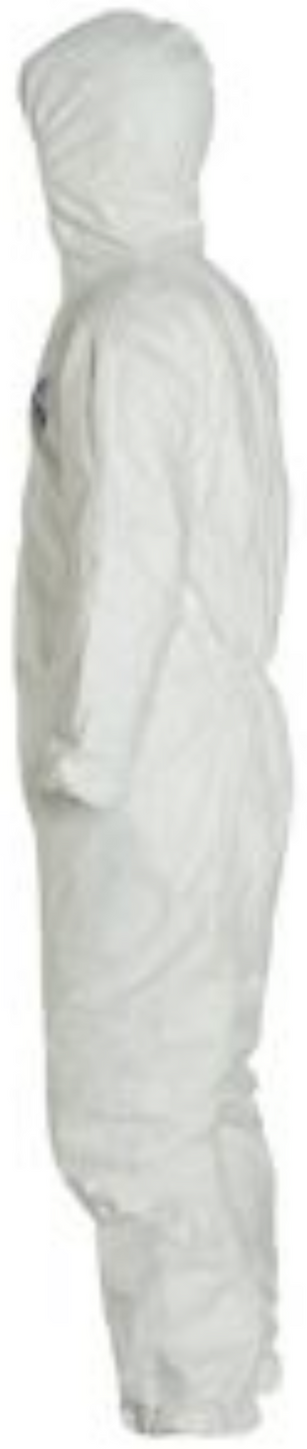DuPont Tyvek Disposable Suit with Hood & Elastic Wrists & Ankles - TY127SWH Left Side
