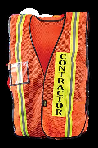 Occunomix LUX-XCON Hi-Viz Mesh Contractor Vest