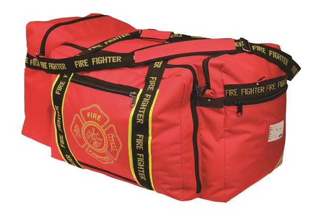 OK-1 Fire Fighter Gear Bag 3000 - Red, with Shoulder Strap