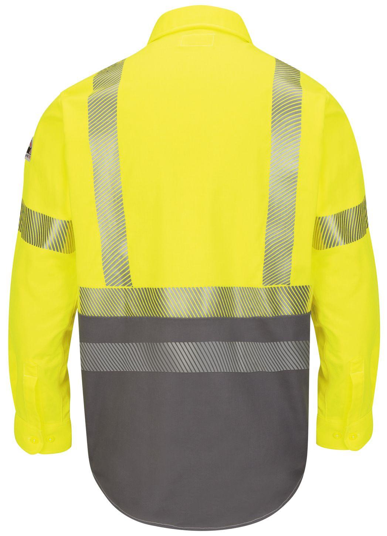 bulwark-fr-hi-visibility-shirt-slb4-color-block-uniform-yellow-green-back.jpg