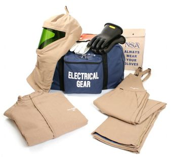 NSA HRC 4 Arc Flash Suit KIT4SCPR40 with Jacket and Bib Overall