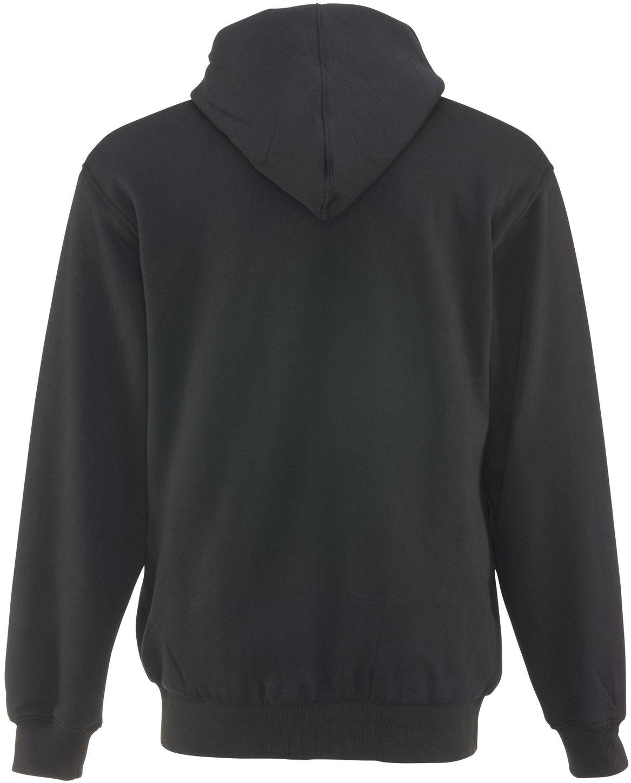 RefrigiWear 0487 Thermal Zipper Work Sweatshirt - With Hood, 2 Layer Black Back