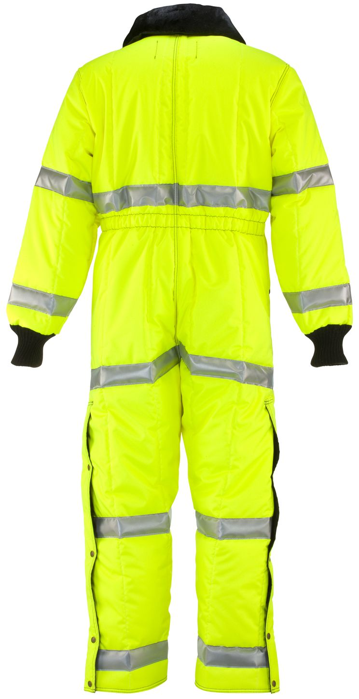 RefrigiWear 0344L2 Hivis Iron-Tuff Coverall Lime Back