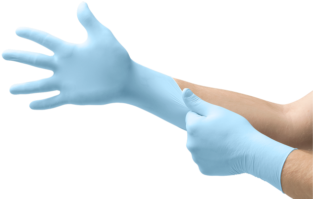 Ansell Microflex® XCEED® XC-310 Blue Nitrile Disposable Gloves - Powder Free