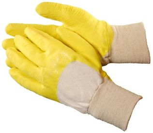 Wrinkle rubber coated gloves