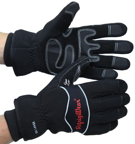 RefrigiWear 0283 Insulated High Dexterity Winter Work Gloves - Front and Back