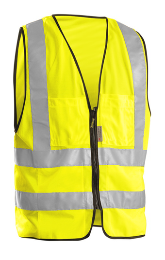 Occunomix OccuLux Surveyors High Vis Vest LUX-SSFS Front Yellow