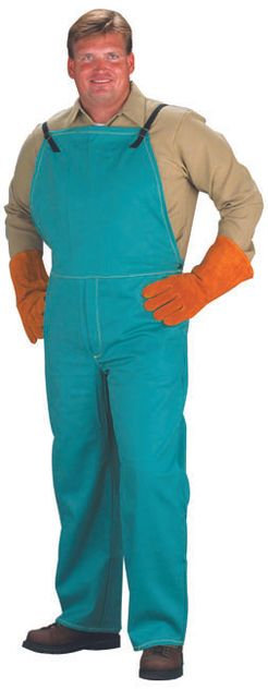 Chicago Protective 9 oz Green Proban Fire Resistant Bib Overall