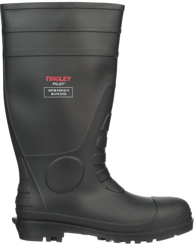 """Tingley 31251 Economical Steel Toe PVC Rubber Work Boots - 15"""" Tall Side"""