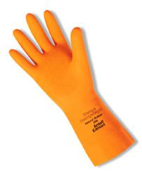 Ansell Orange Heavyweight Latex Gloves 208 - Unsupported